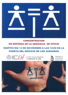 Concentración en Defensa del Turno de Oficio. Sedes de  los distintos partidos judiciales, 13 de noviembre.