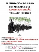 Presentación del libro: Los abogados que cambiaron España. León, 10 de junio de 2019.