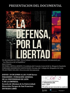 La defensa por la libertad cartel.