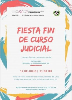 Fiesta fin de curso judicial 2019.