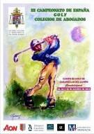 III Campeonato de España de Golf de Colegios de Abogados. Guadalajara, días 23, 24 y 25 de Octubre de 2015.
