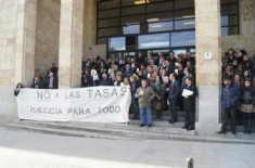 Protesta contra las tasas Octubre 2012