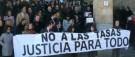 El personal de los Juzgados de León se manifiesta contra la Ley de Tasas